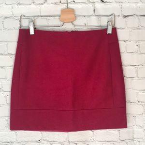 J. Crew Magenta Mini Skirt Sz 0